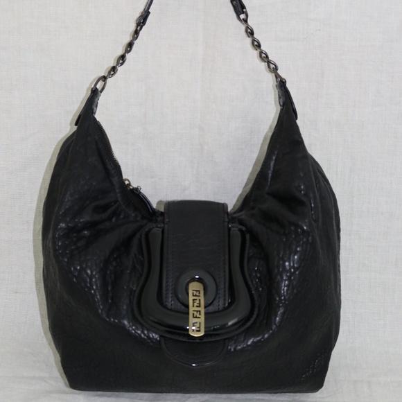 6a3fb7df44e9 Fendi Handbags - FENDI B BUCKLE leather shoulder handbag Italy